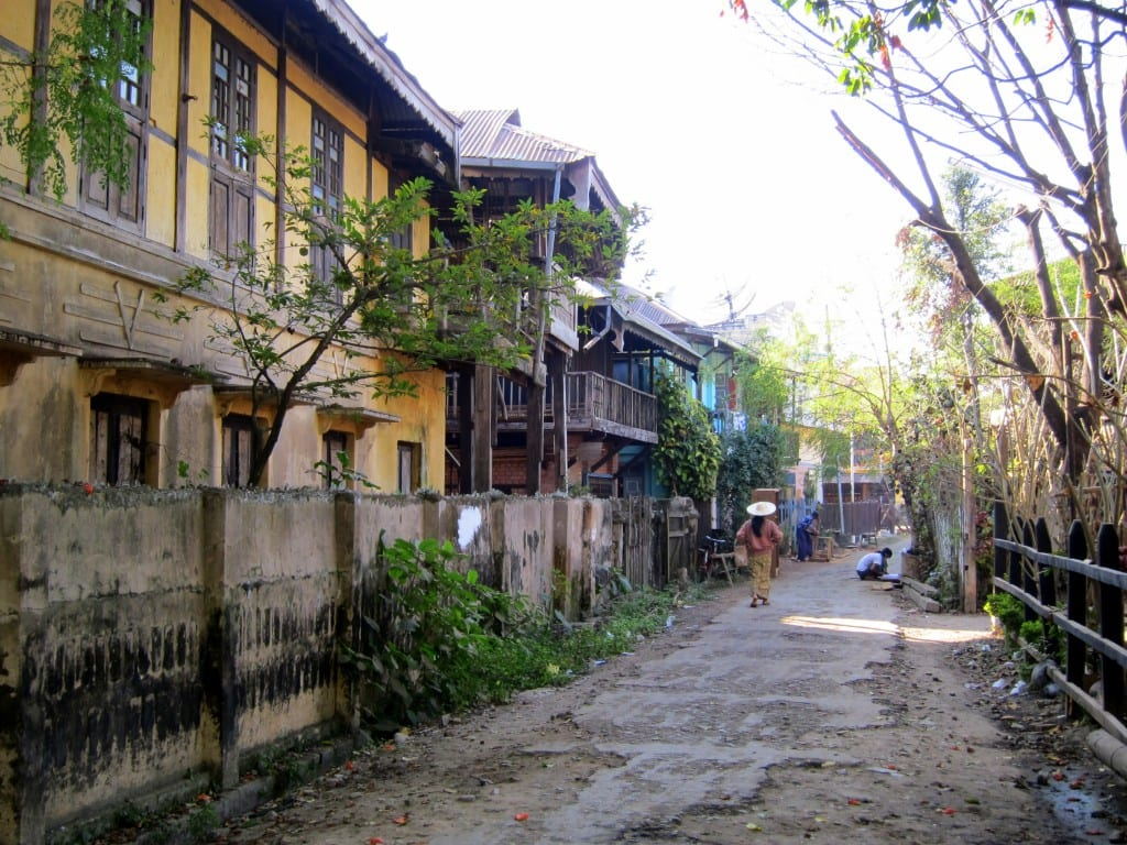 Katha, Burma in the late morning light.