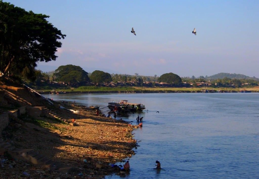 Afternoon sun over the Ayeyarwaddy, Burma