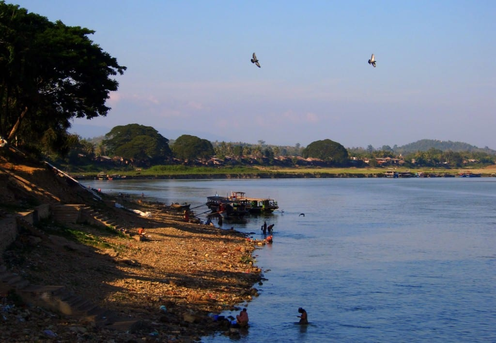 Afternoon sun over the Ayeyarwaddy, Burma