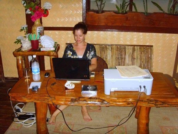 Working in El Nido, Palawan