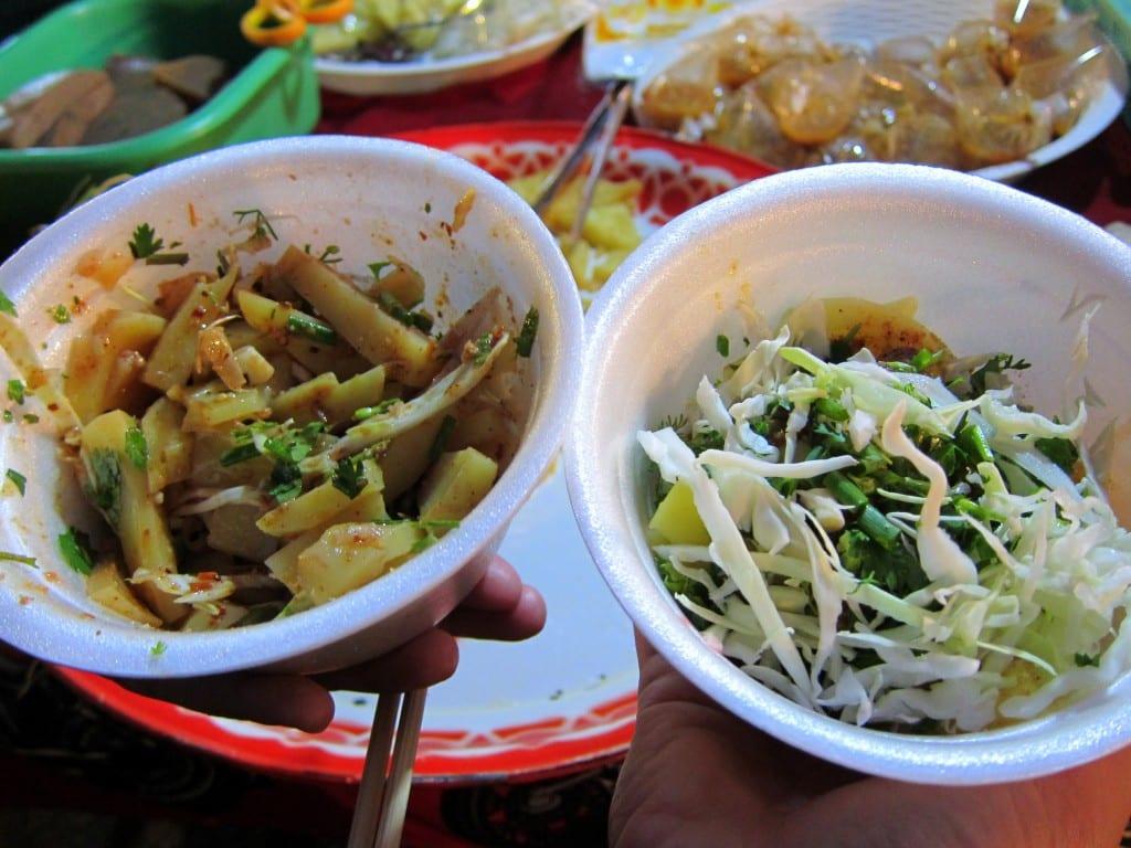 Burmese tofu salad from chiang mai