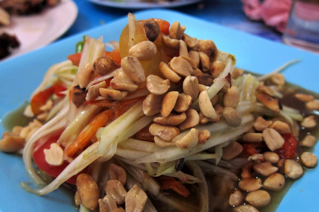 Delicious somtam from Chiang Mai