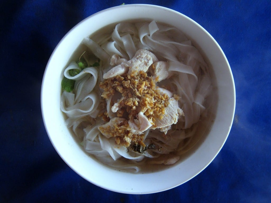 Pork noodle soup from Luang Prabang in Laos