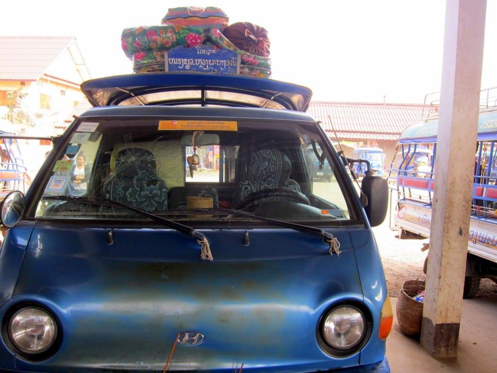 bus rides in laos