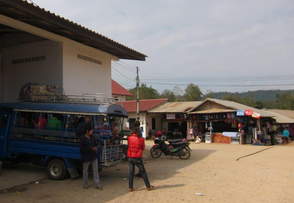 Luang Prabang's Northern bus station in Laos