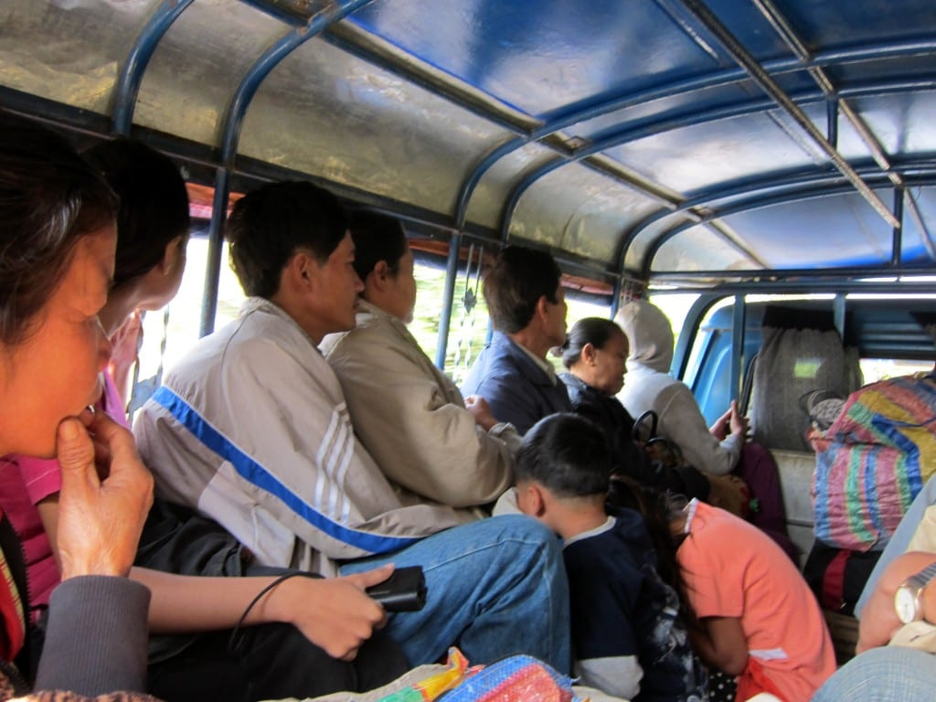 Local buses in Laos
