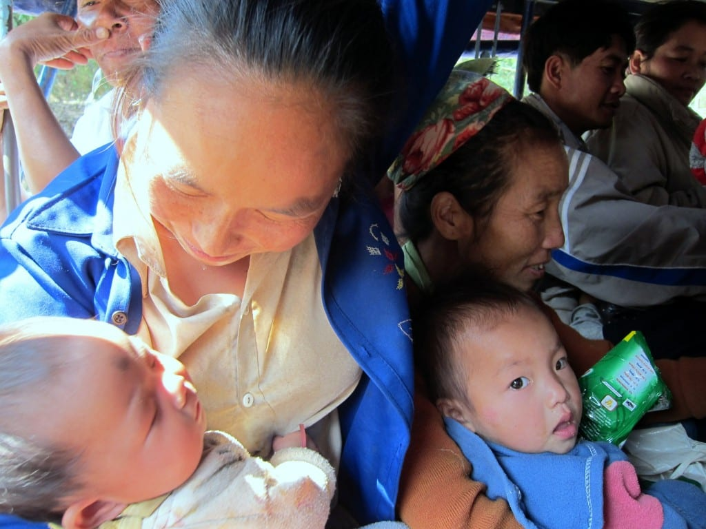 All ages and sizes in my songthaew to Nong Khiaw