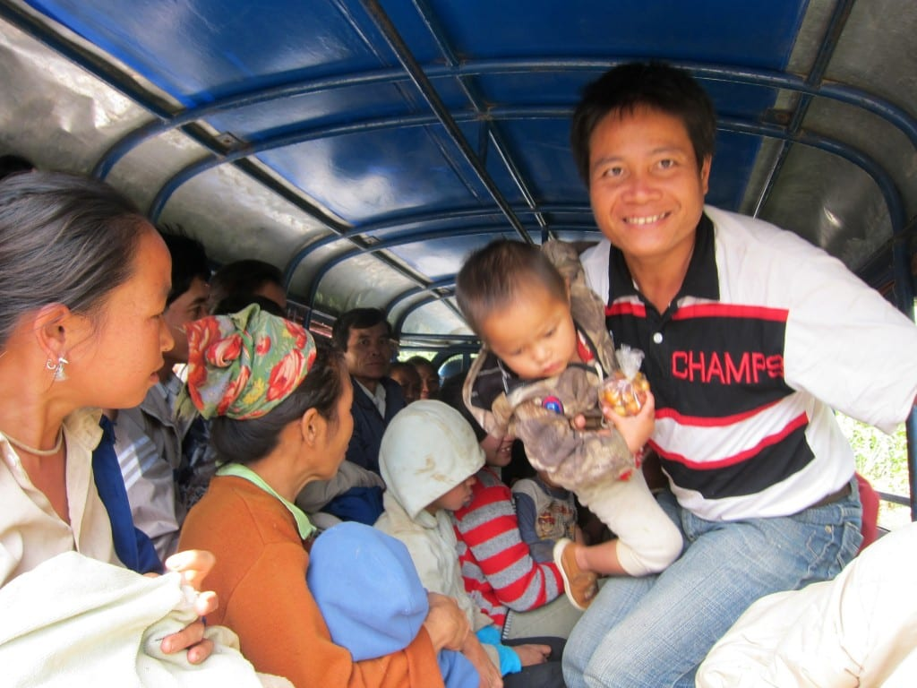 All smiles on the way to Nong Khiaw