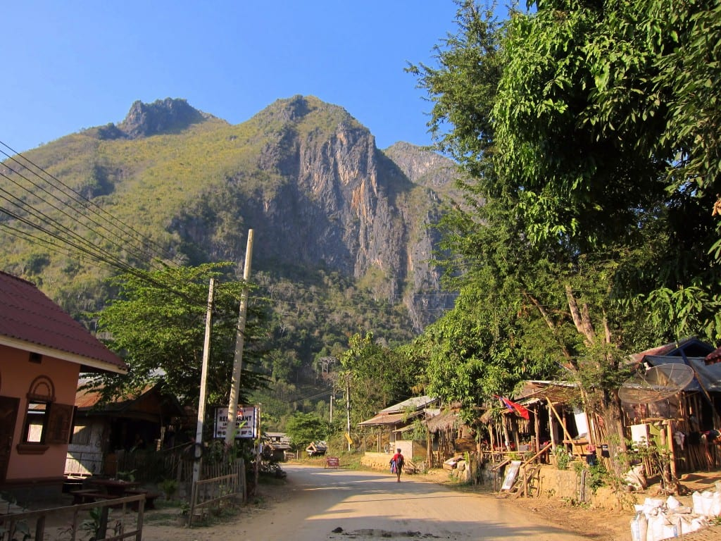 Laos' Nong Khiaw in the afternoon sun.