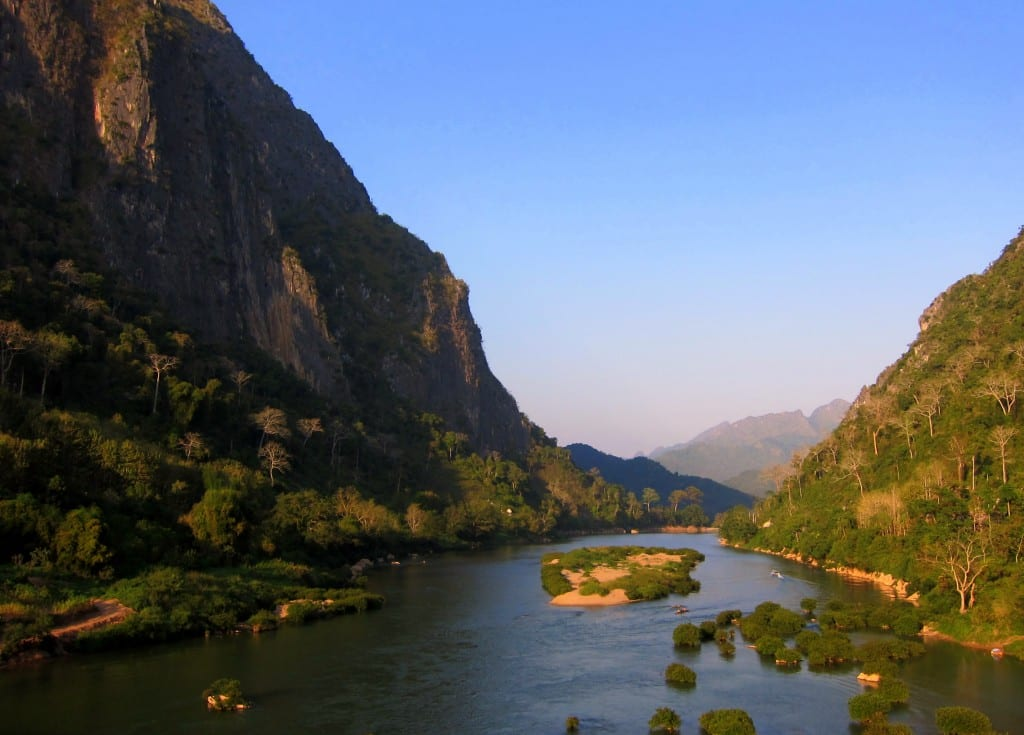 Limestone cliffs of Nong Kiow in Northern Laos