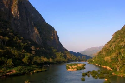 Limestone cliffs of Nong Kiow in Northern Laos