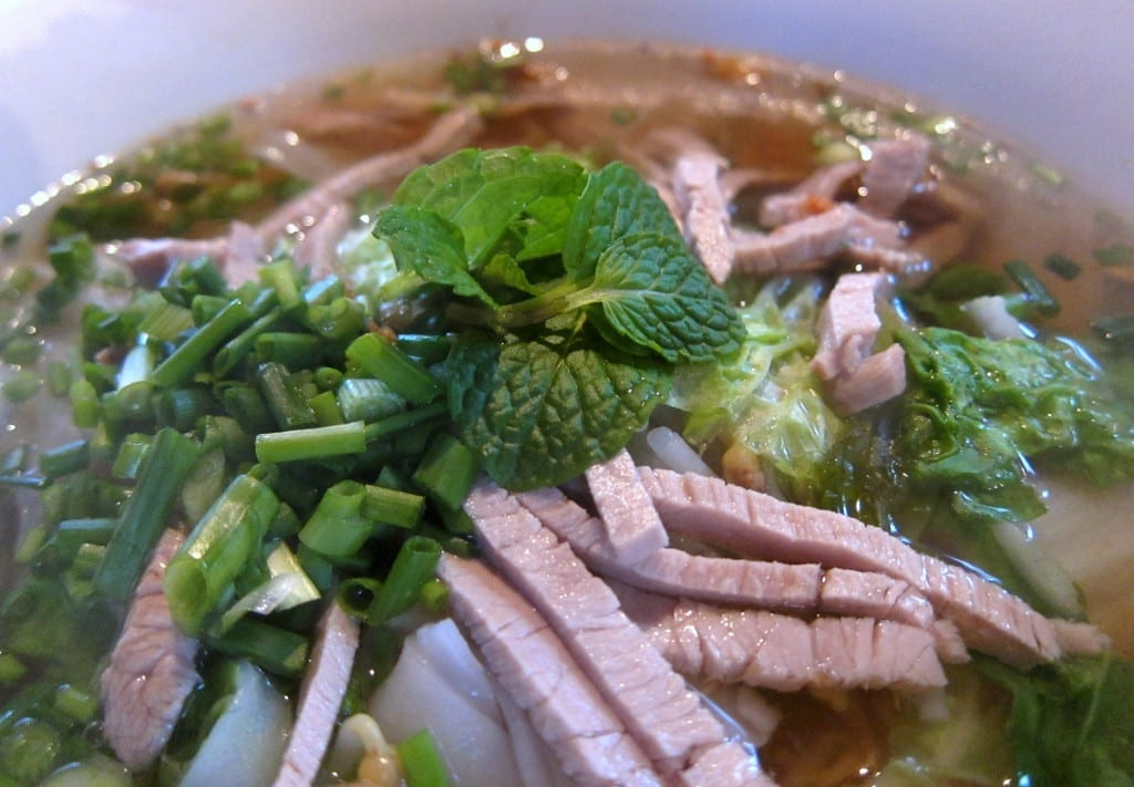 Mrs. Sum's noodle soup in Luang Prabang