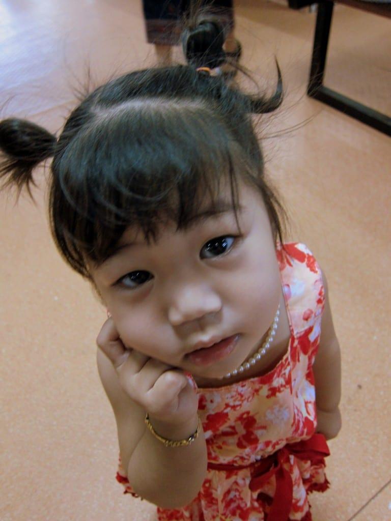 Adorable girl in Luang Prabang