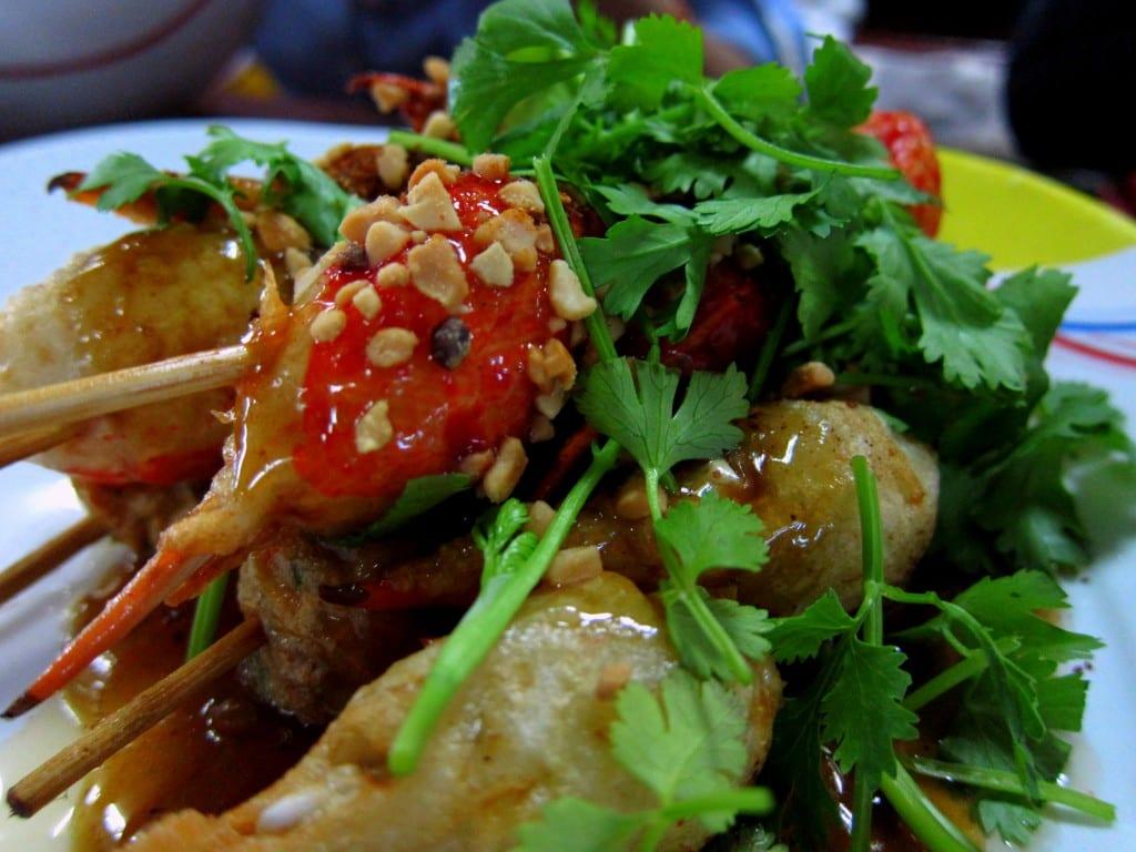Seafood platter of champions in Luang Prabang