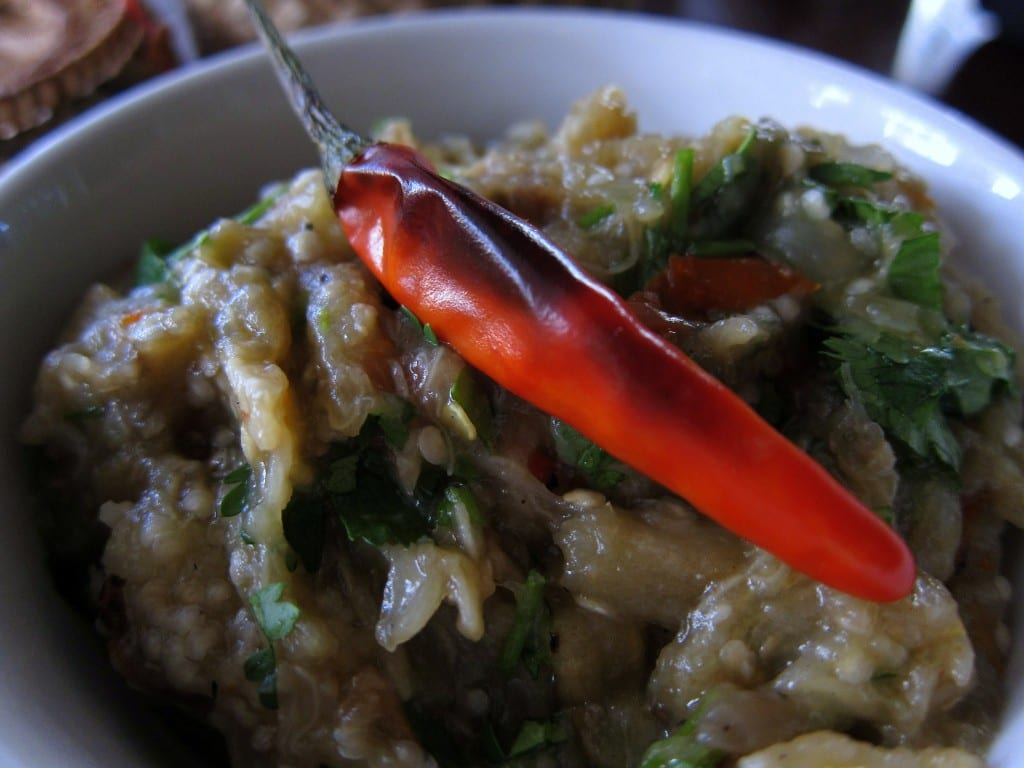 Roasted eggplant from Makphet in Laos.