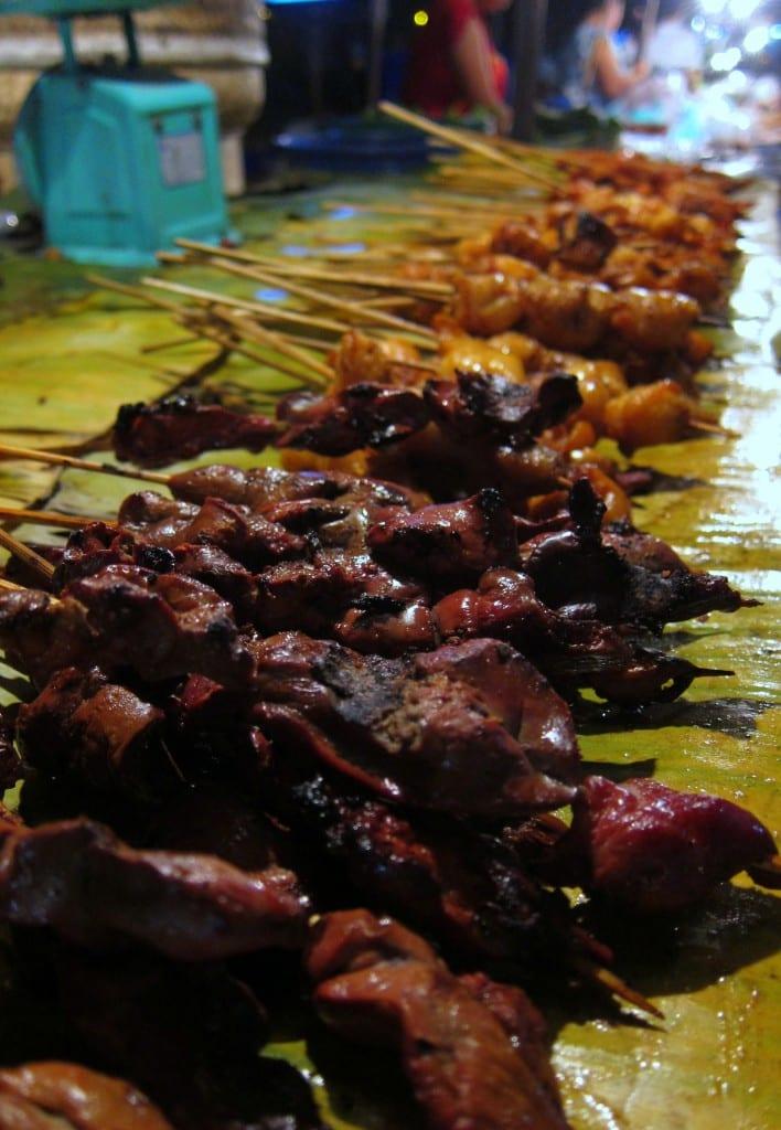 Terrific street meat in Vientiane