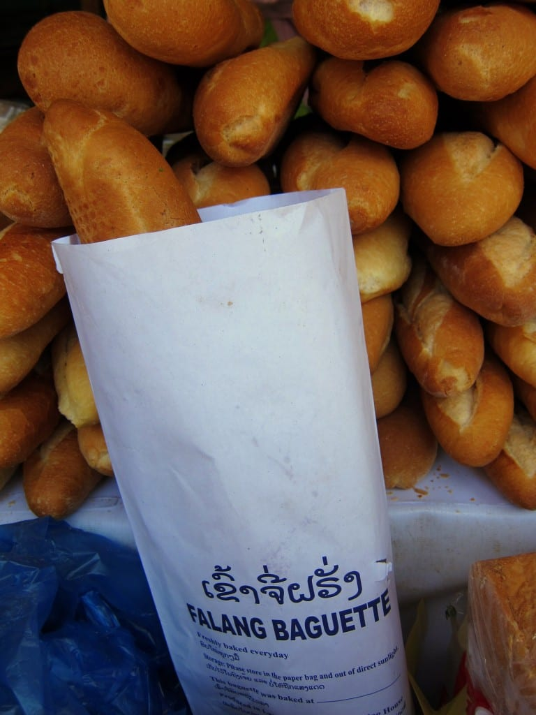 A foreigner's bread in Vientiane
