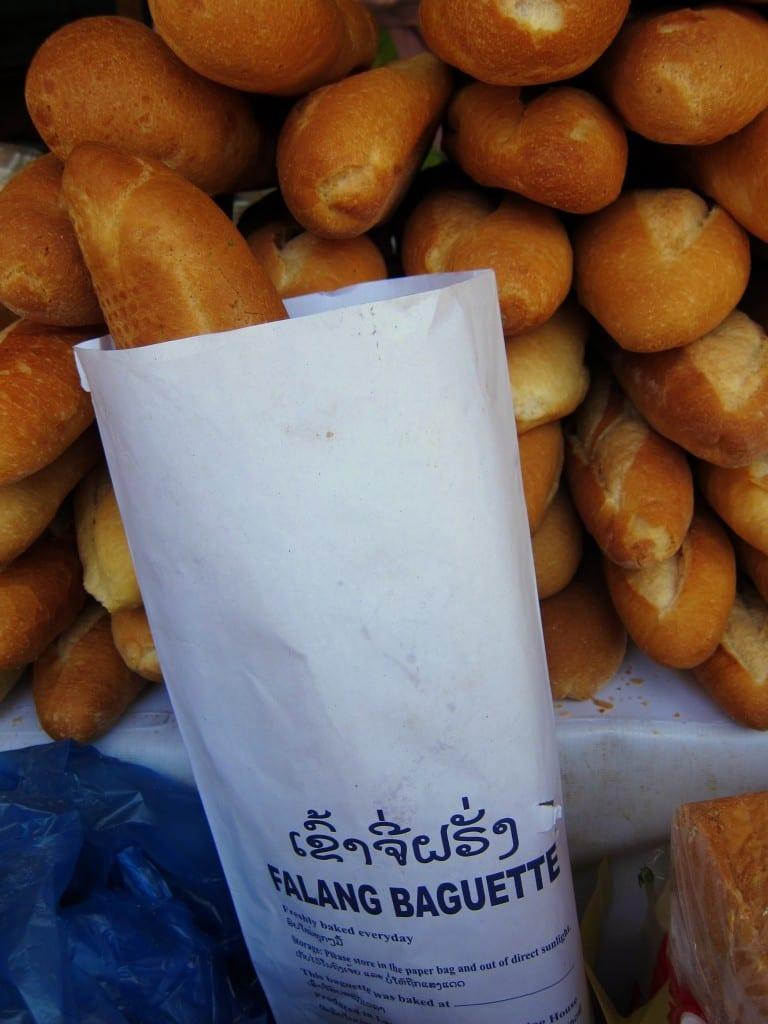 A foreigner's bread in Vientiane