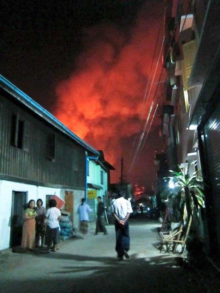 Hpa An Fire, Burma