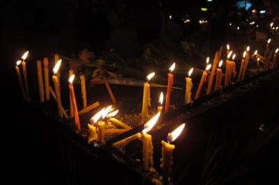 Candles at Wat Phra Singh Thailand