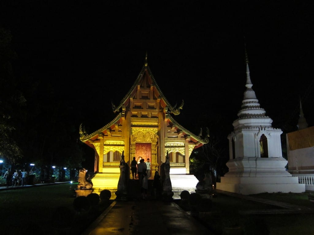 Outer reaches of Wat Phra Singh's temple grounds, Chiang Mai for Makha Bucha Day