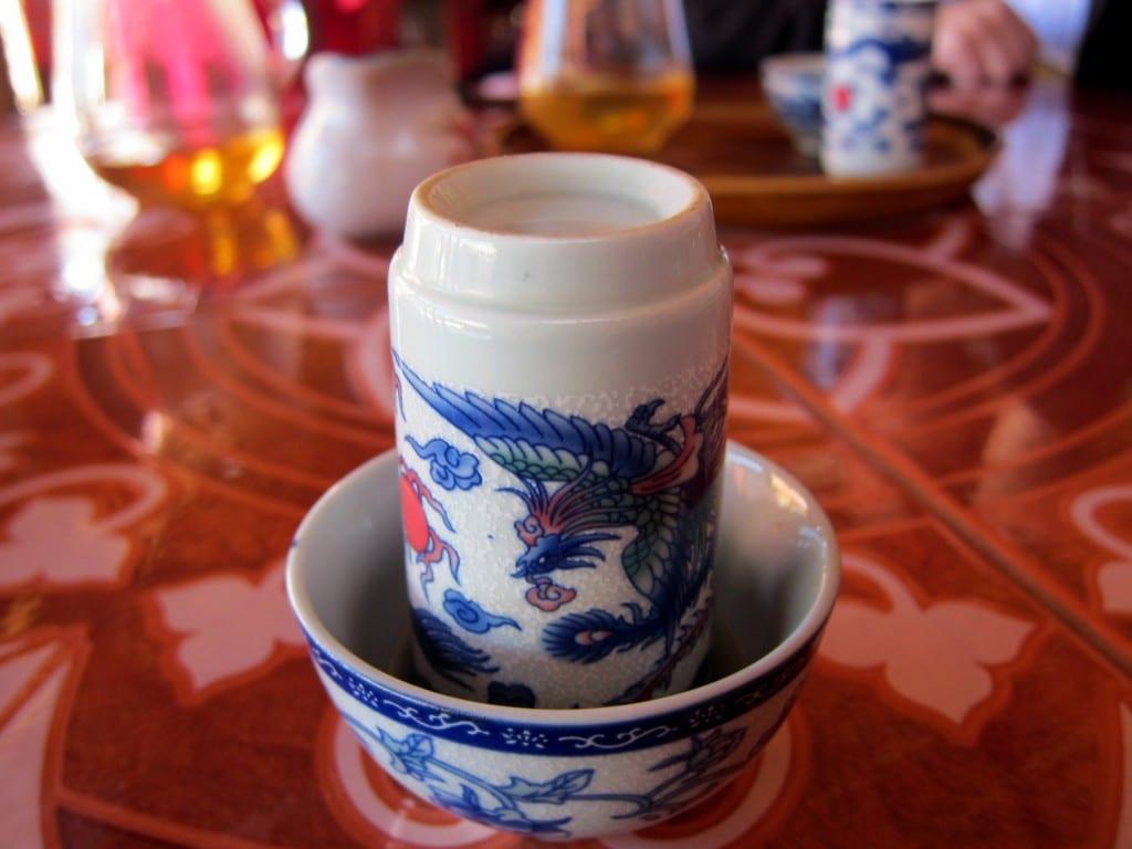 Drinking Tea at Ban Rak Tai in Thailand