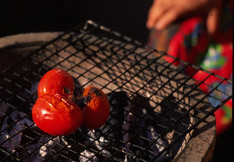 Naomi Duguid tomato on the grill
