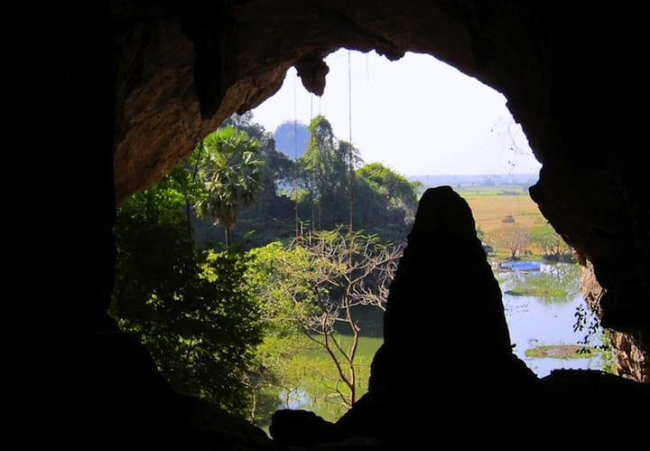 View from Saddar Cave in Hpa An