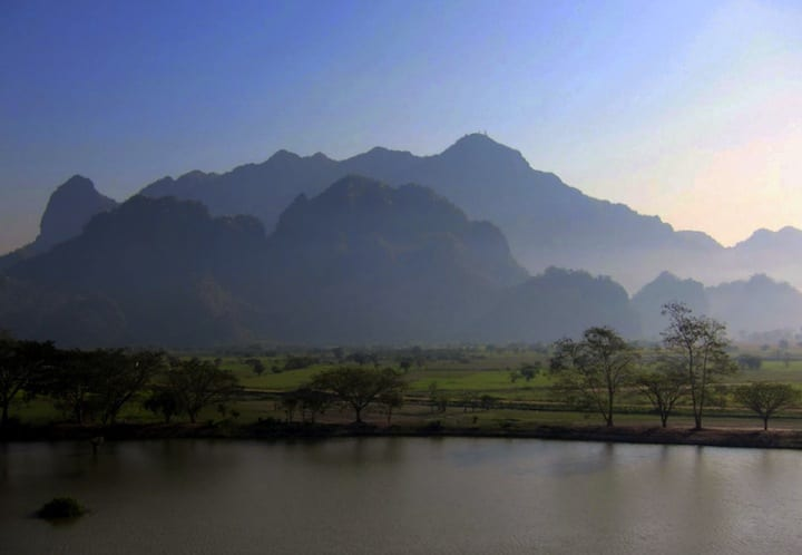 Mount Zwegabin in Burma