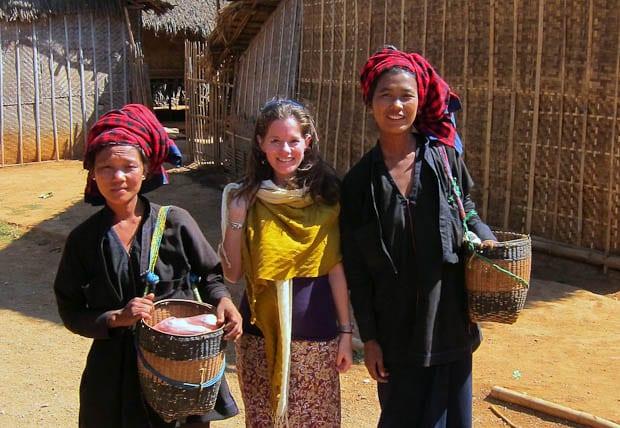 Inle Lake Burma- Pao tribeswomen on Inle Lake