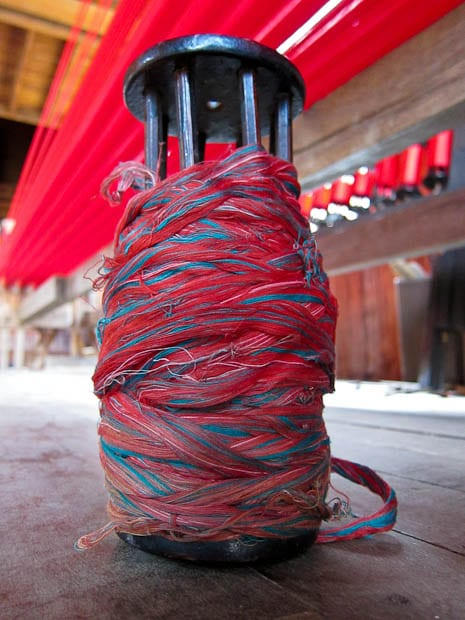 Inle Lake Burma- lotus weaving