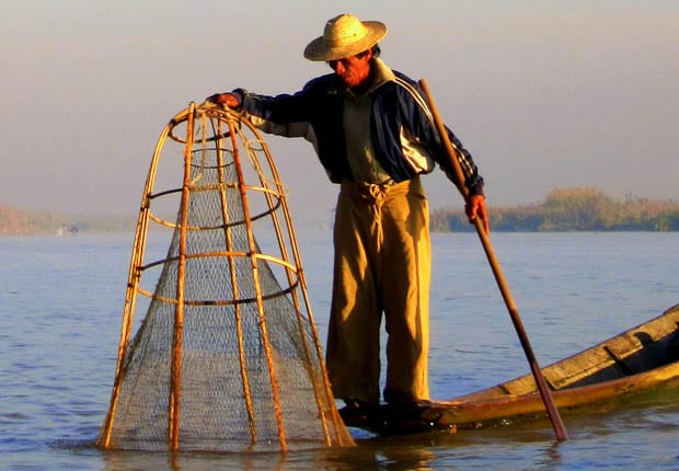 Inle Lake Burma fishing