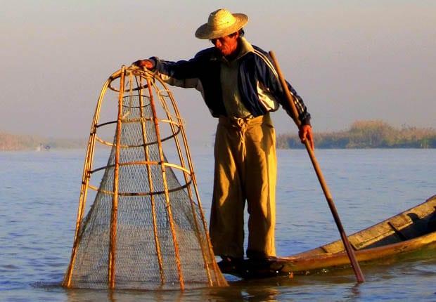 Inle Lake Burma fishing