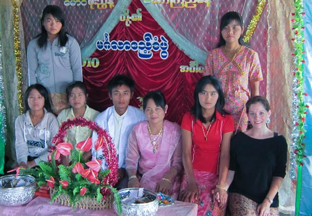 Attending a local wedding at a village in Inle Lake