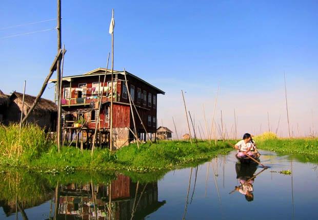 Inle Lake Burma- reflective scene