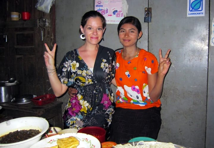 Me and Soup Lady in Hpa-An