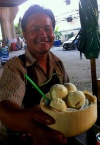 Coconut Ice Cream Cart in Bangkok