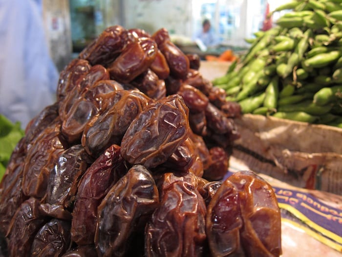Dates for sale at a market in Amman