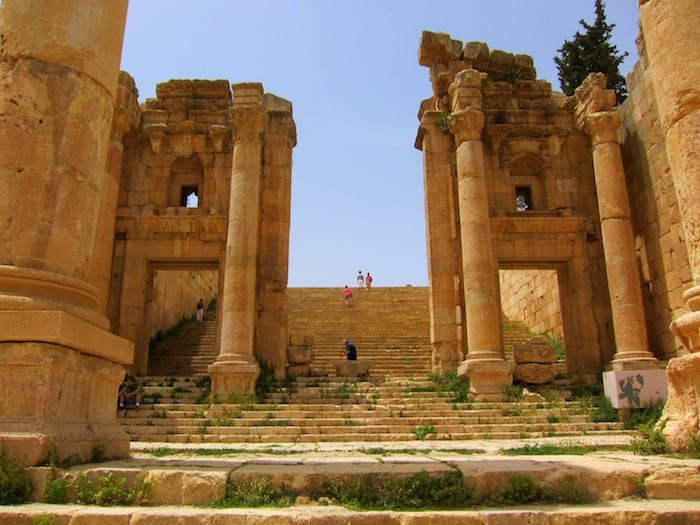 One small part of the ruins at Jerash, Jordan