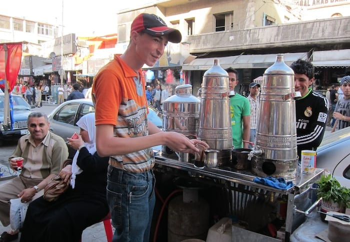 Roadside coffee in Amman