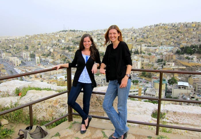 Shannon and jodi in Amman