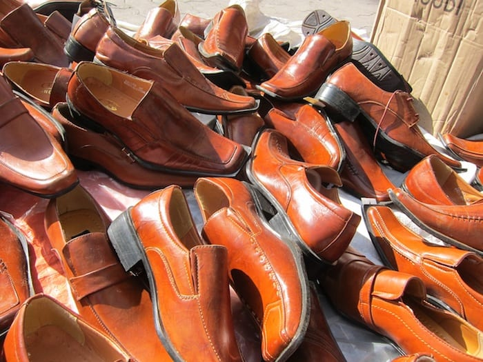 Shoes for sale in downtown Amman