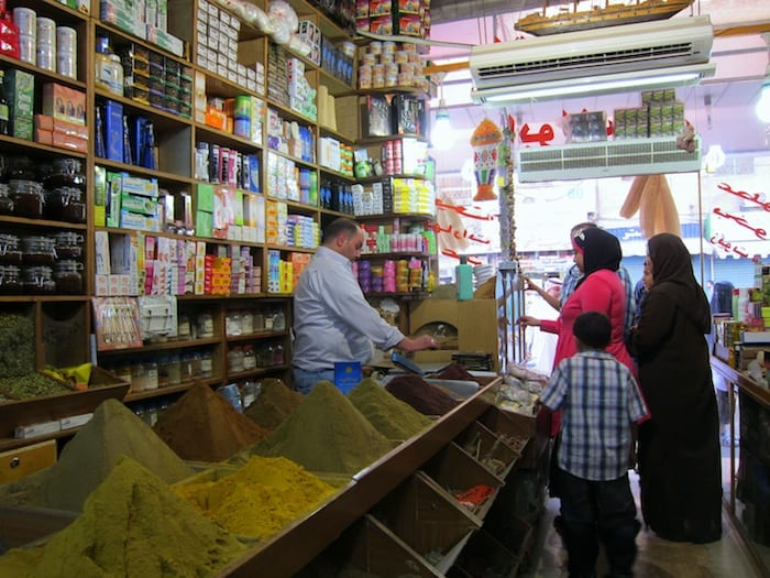 Spice store in Amman