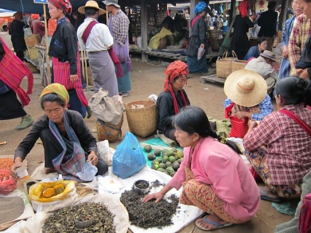 Spices in Burmese Market