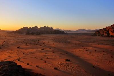 Jordan's Wadi Rum at dusk