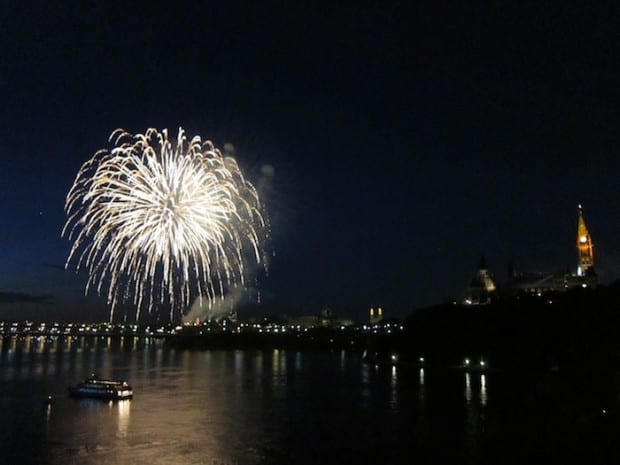 Canada day fireworks in Ottawa