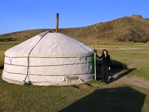 Me and my home in the Gobi desert, Mongolia