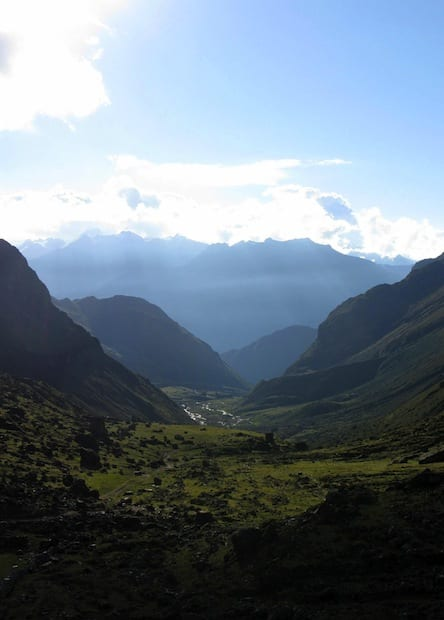 getting sick on the incan trail