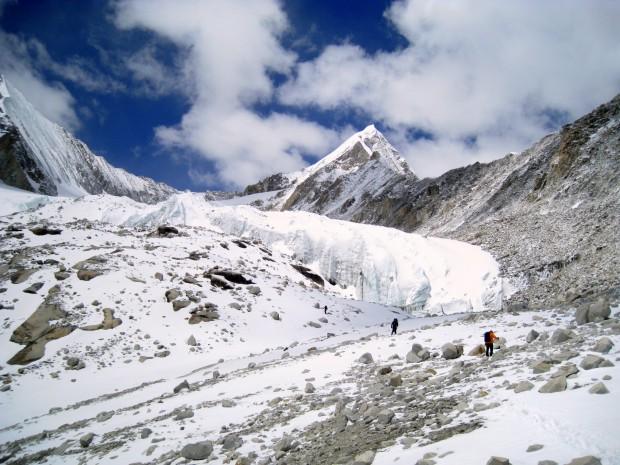Walking toward camp near Makalu, Nepal