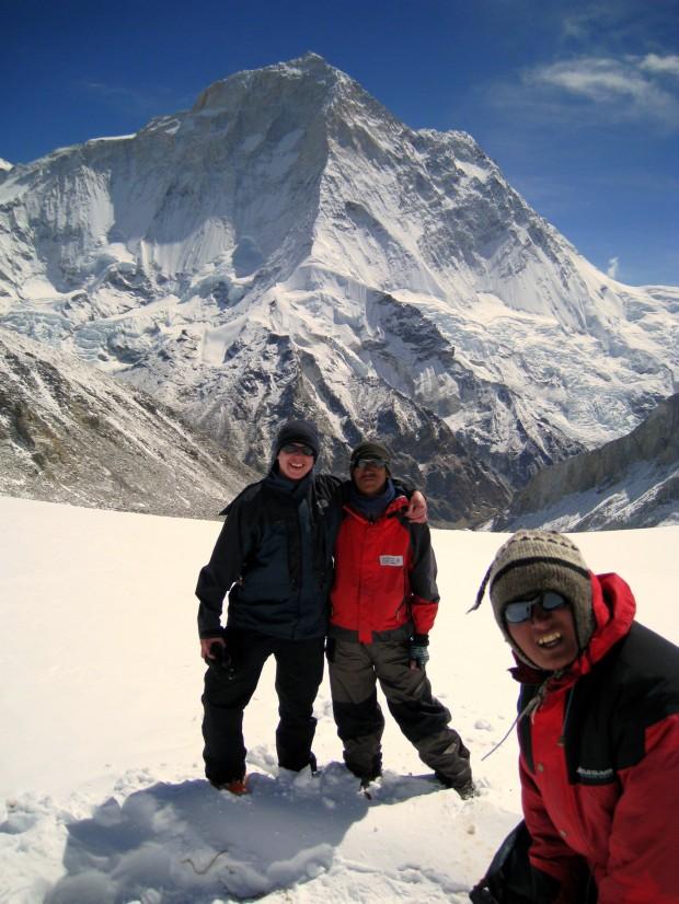 Glacier at Makalu mountain, Nepal just before Sherpani Col
